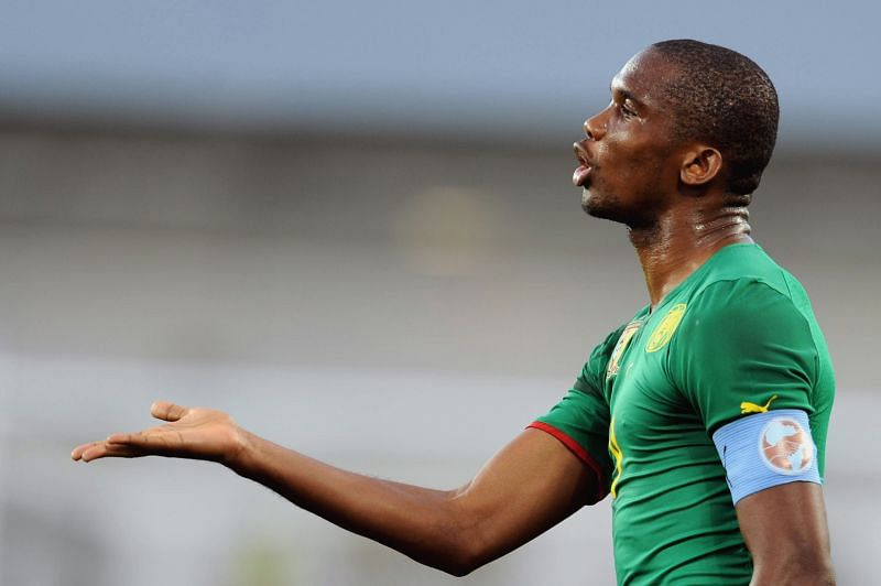 Eto'o won two AFCONs with Cameroon