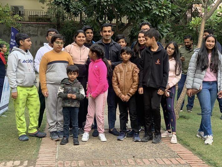 Members of Samvedna with Gautam Gambhir