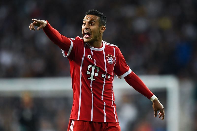 Thiago struggled with injuries towards the second half of the Bundesliga season