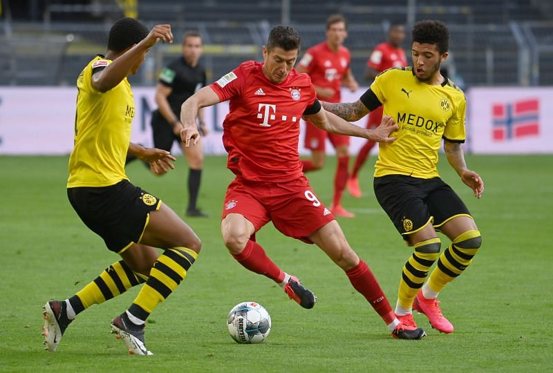 Lewandowski and Sancho have both enjoyed Bundesliga campaigns to remember