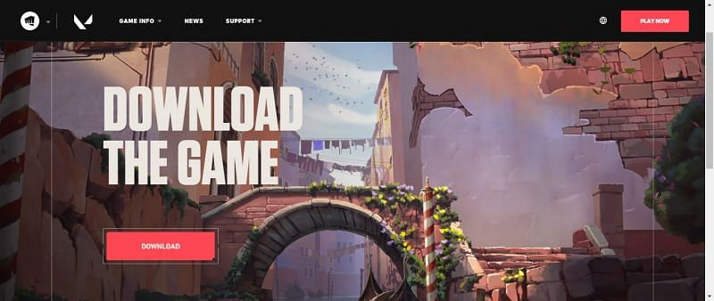 Valorant new map showcased on their website