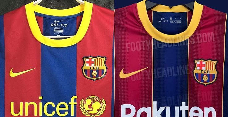 A side-by -side comparison of the two kits ten years apart