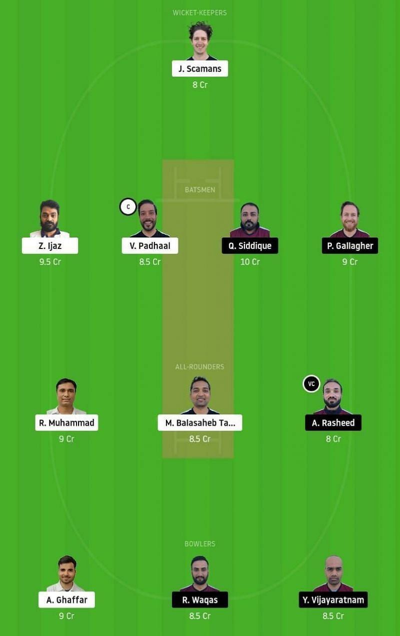 ECC vs SKK Dream11 Tips