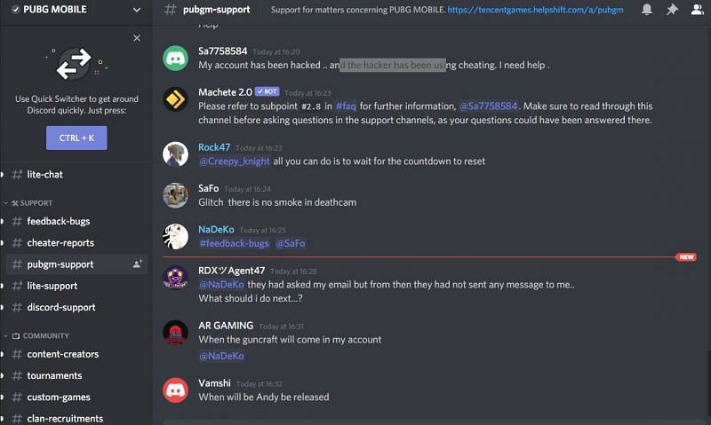 Discord Support