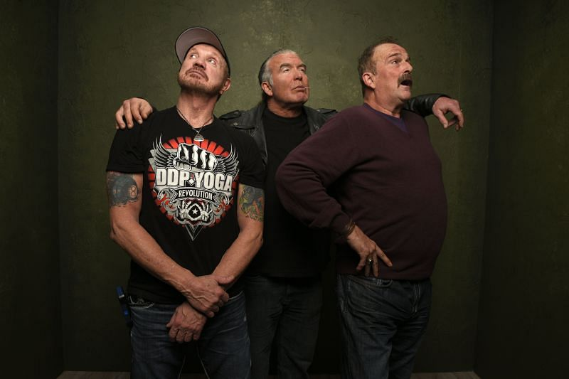 "Diamond Dallas Page, Scott Hall and Jake ""The Snake"" Roberts at the 2015 Sundance Film Festival"