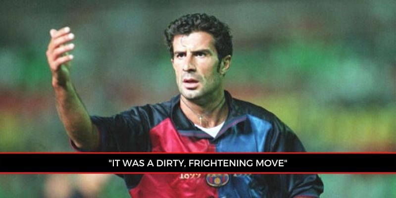 Luis Figo was heavily criticised for his decision to join Real Madrid