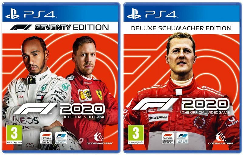 The PS4 Cover of the F1 2020 game