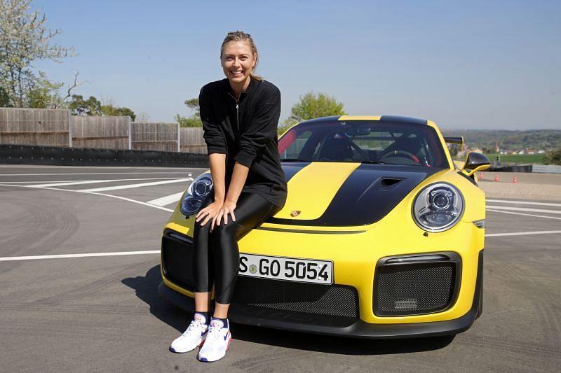 Maria Sharapova and Mark Webber Drive A Porsche 911 RT2 RS