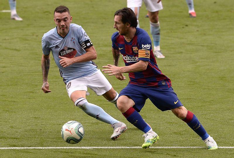 Messi in action against Celta