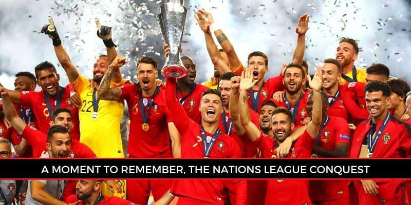 Cristiano Ronaldo celebrates Portugal's historic Nations ...