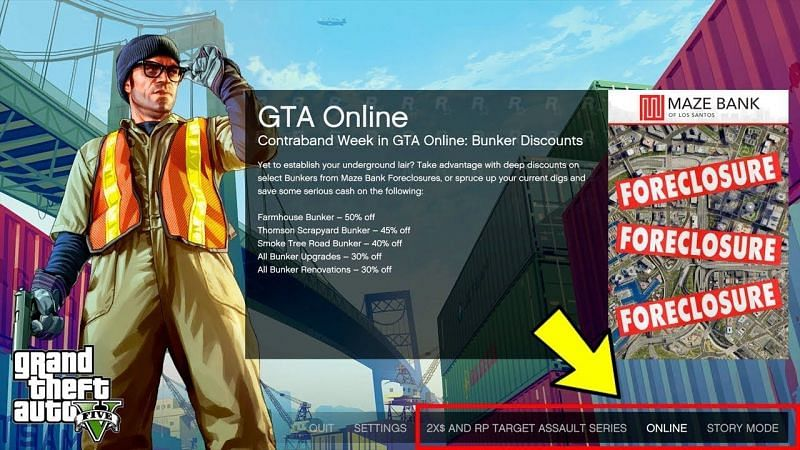 Join GTA Online by clicking Online button