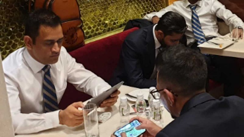 MS Dhoni enjoys playing PUBG Mobile with his teammates