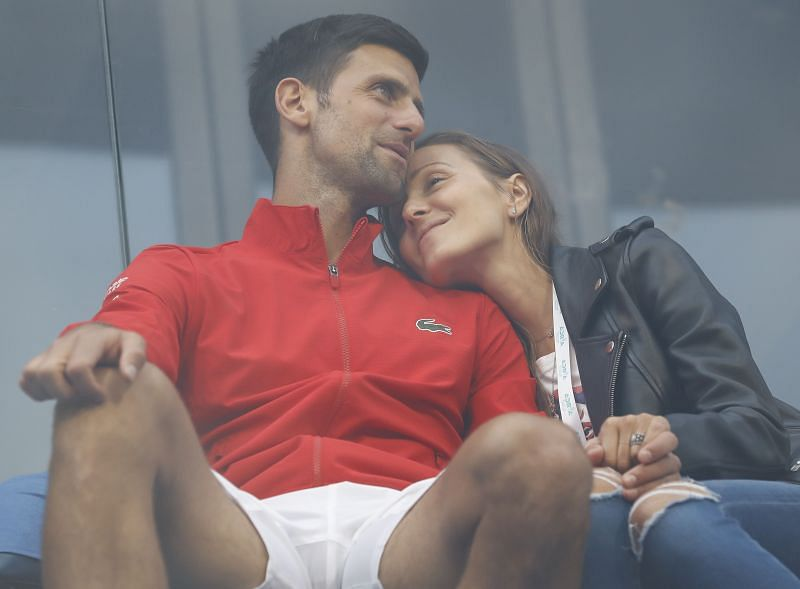 Novak Djokovic with his wife Jelena at the Adria Tour