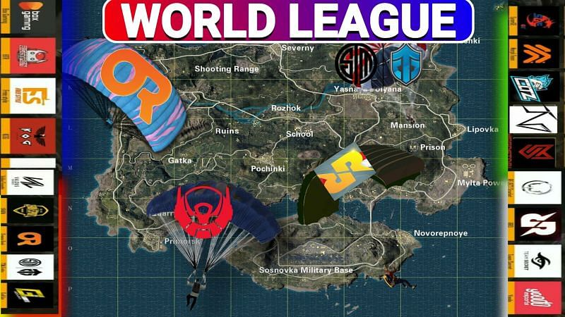 Pmwl East 2020 Drop Location Of Teams In Erangel Map