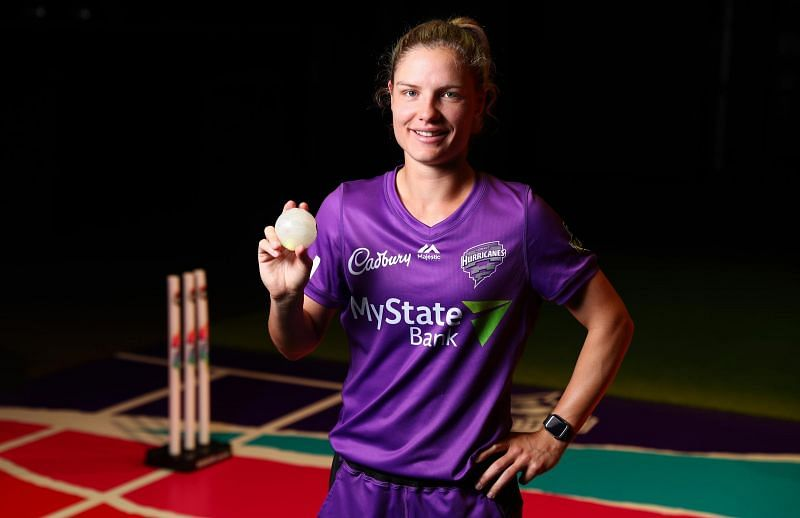 Nicola Carey plays for the Hobart Hurricanes in the WBBL