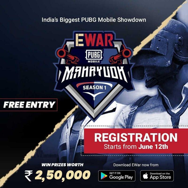 EWar PUBG Mobile Mahayudh Season 1 details EWar PUBG MobilSeason 1 invited teams