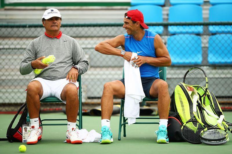 Toni (L) with Rafael Nadal (R)