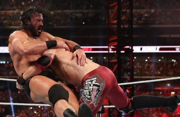 Edge spears Drew McIntyre at the 2020 Royal Rumble