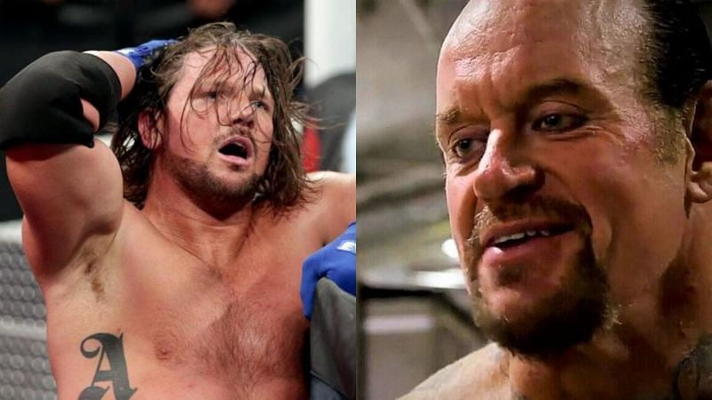 AJ Styles (left); The Undertaker (right)