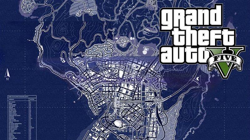 Maps of GTA 5 (Image: YouTube)