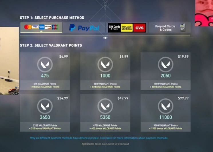 Valorant Points Prize