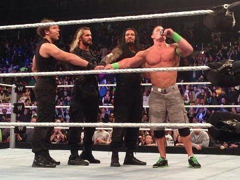WWE दिग्गज जॉन सीना, सैथ रॉलिंस, रोमन रेंस और डीन एम्ब्रोज़