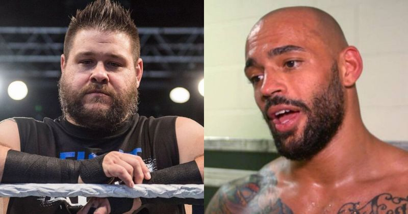 Kevin Owens and Ricochet.