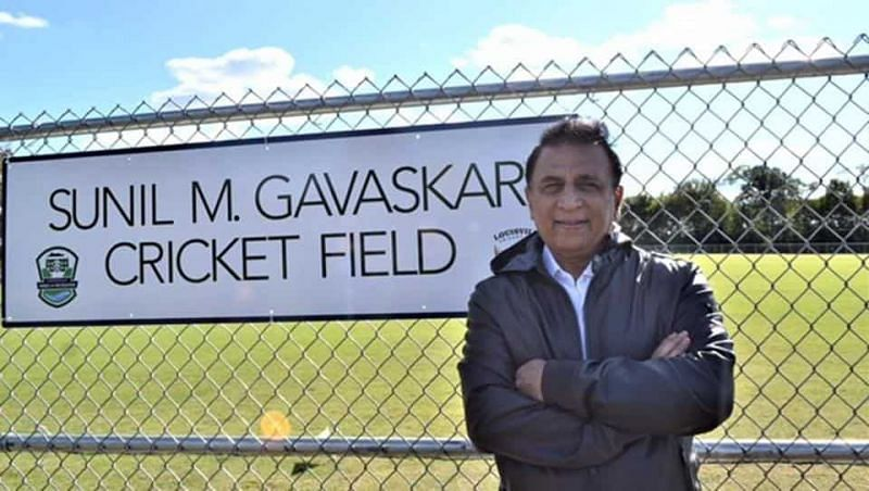 Sunil Gavaskar at the fround named after him in Louisville, Kentucky (PC - Hindustan Times)
