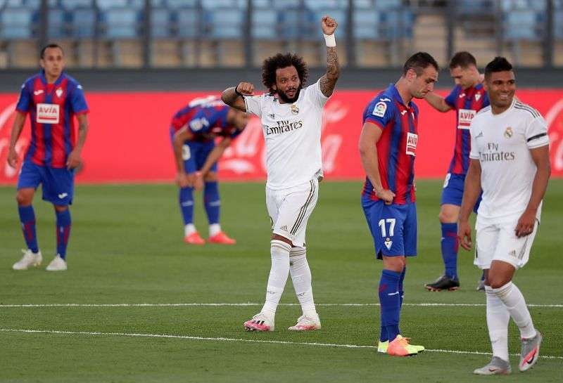 Marcelo scored a goal last night but struggled to keep up in the second half.