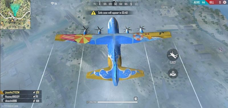 Dropping Plane in Free Fire