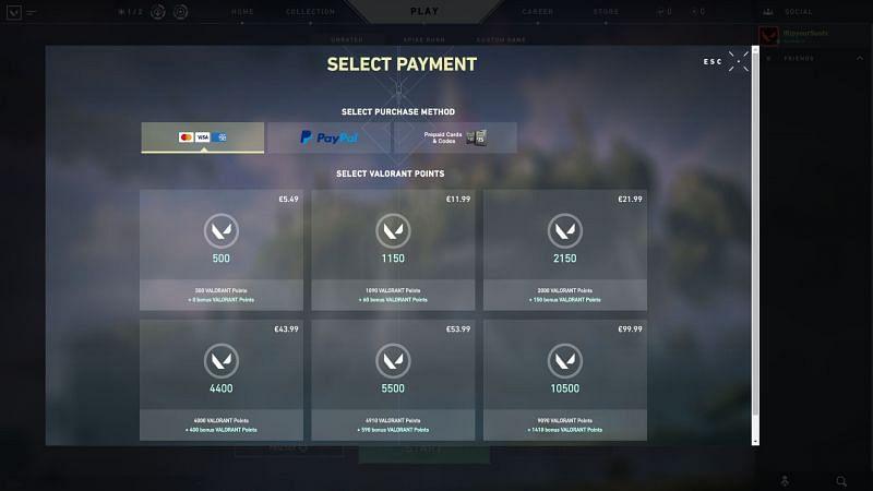 Valorant Pay for Valorant points