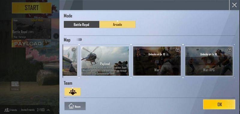 Arcade Modes in PUBG Mobile Lite