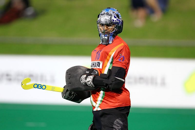 P R Sreejesh is the goalkeeper of the Indian hockey team