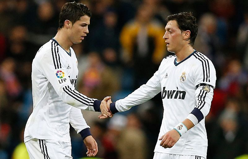 Mesut Ozil set up a lot of goals for Cristiano Ronaldo during his spell with Real Madrid.