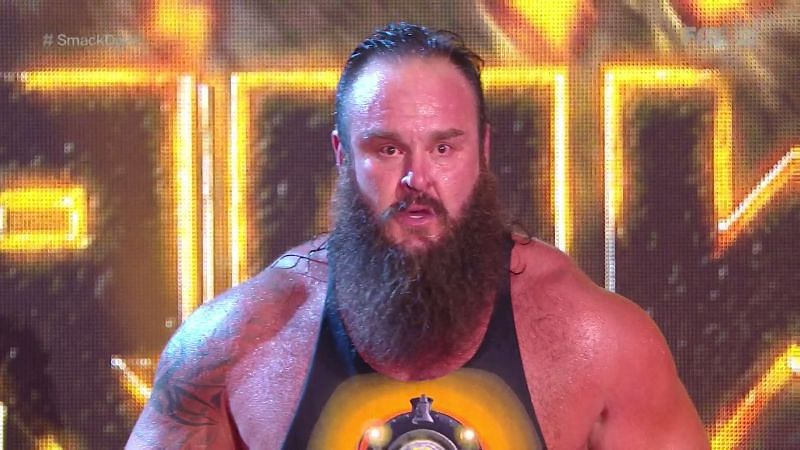 Braun Strowman on the SmackDown before Extreme Rules