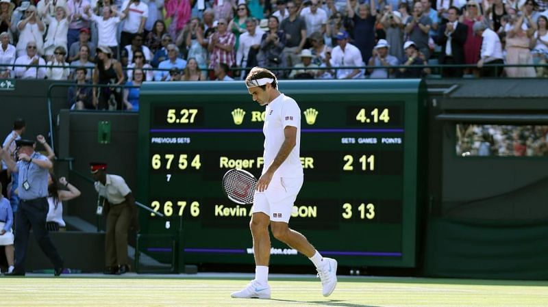 Roger Federer after losing to Kevin Anderson