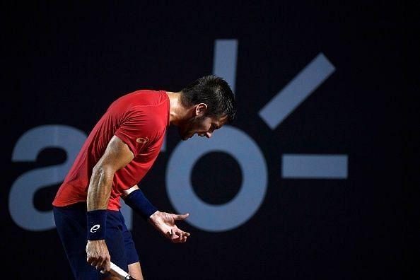 Borna Coric was a participant at the Novak Djokovic-organized Adria Tour