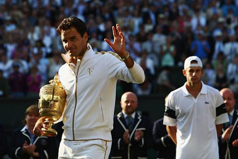 Roger Federer beat Andy Roddick in the final to win the poll