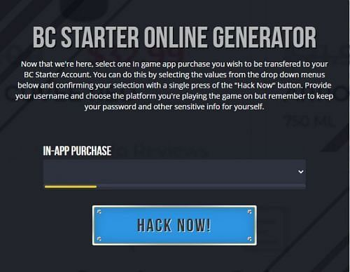 There are various BC Generators online