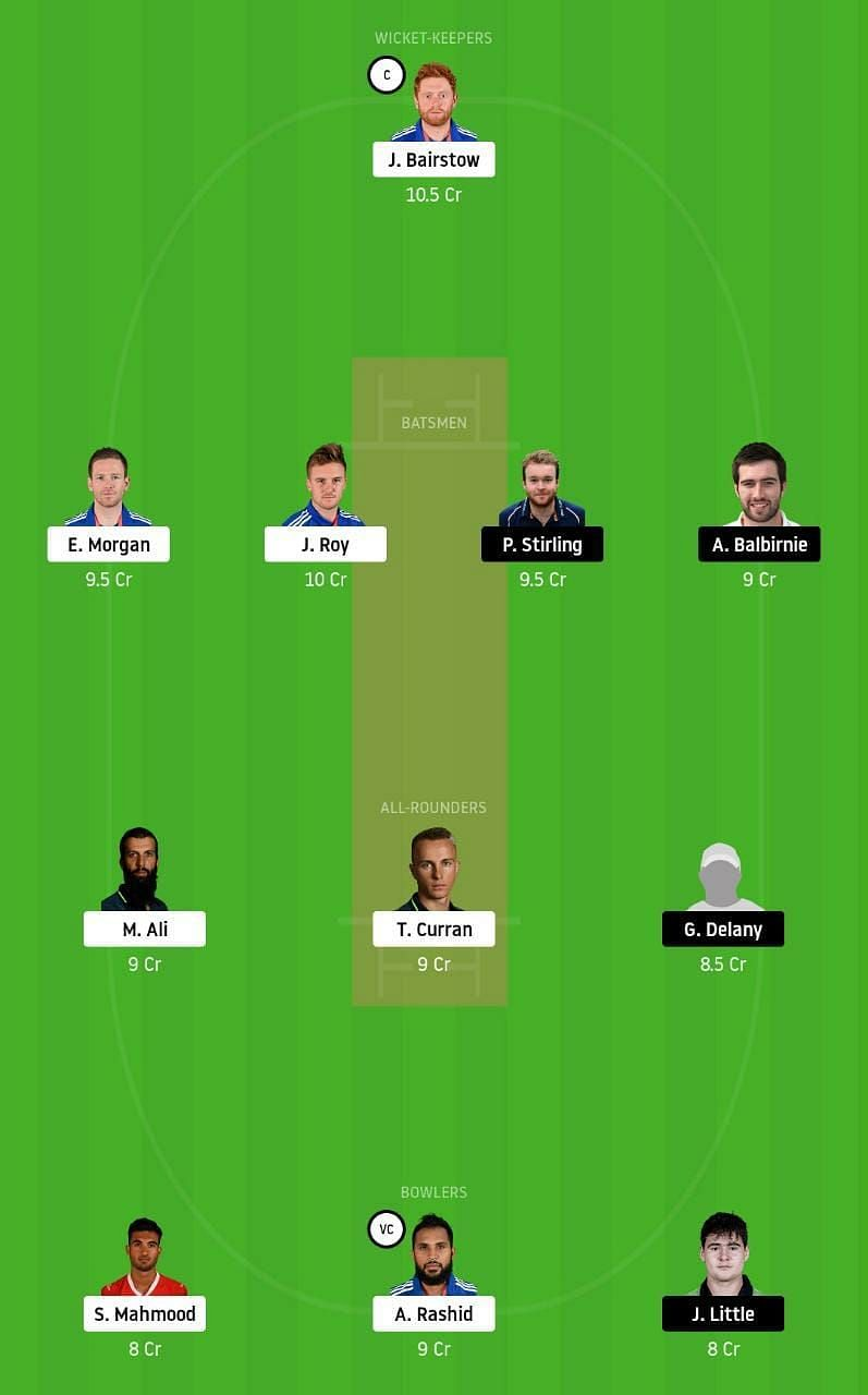 ENG vs IRE Dream11 Tips
