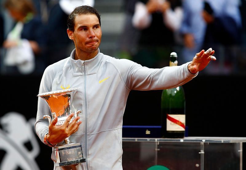 Rafael Nadal with the 2018 Internazionali BNL d
