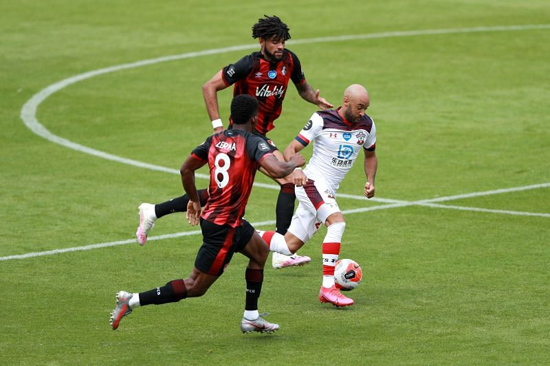 Nathan Redmond going about his business against Bournemouth