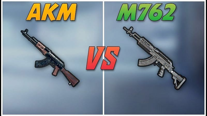 The AKM and the M762 in PUBG Mobile