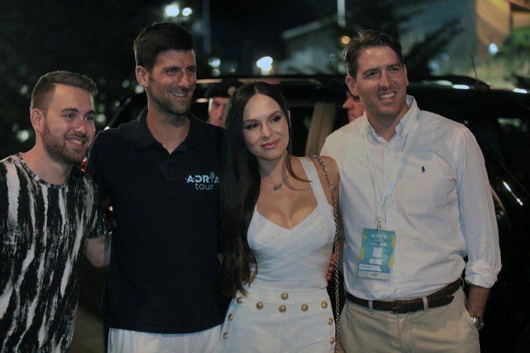 Lola Astanova pictured with Novak Djokovic