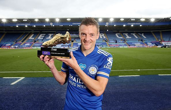 Jamie Vardy became the oldest recipient of the Premier League Golden Boot award