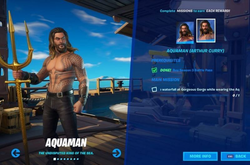Fortnite Week 5 challenges will allow players to unlock the Aquaman skin (Image Credits: Gamepur)