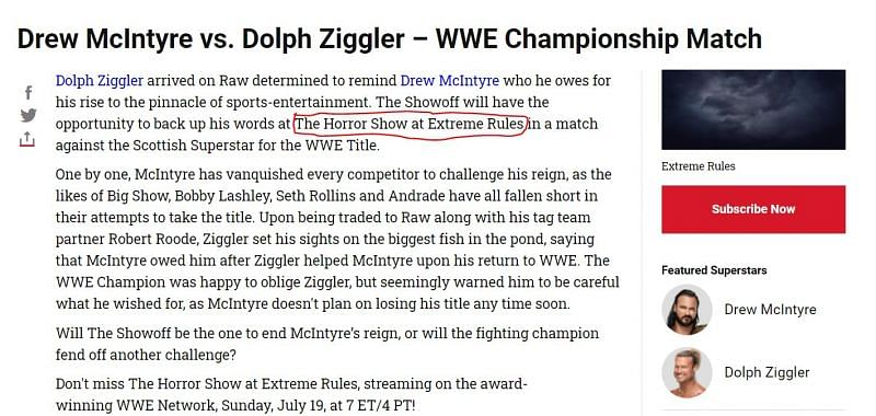 Will Drew McIntyre walk out of Extreme Rules with the WWE Championship?