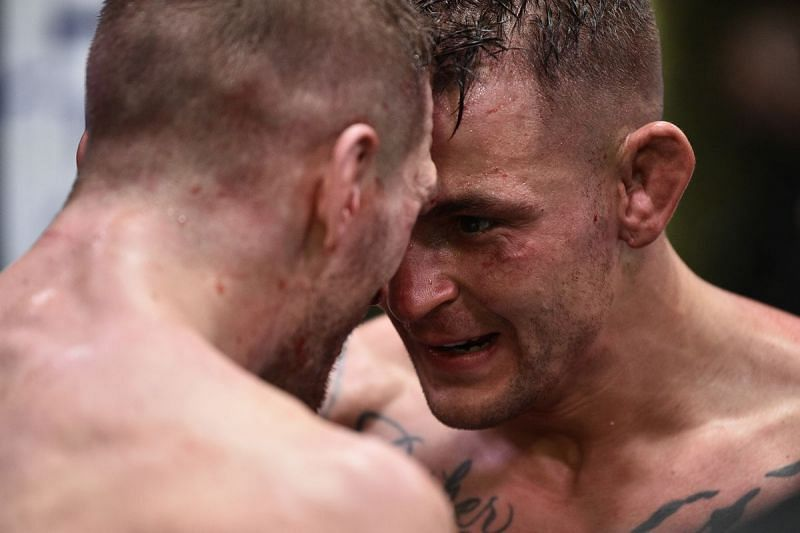 Mutual respect shown between Dan Hooker and Dustin Poirier after their fight