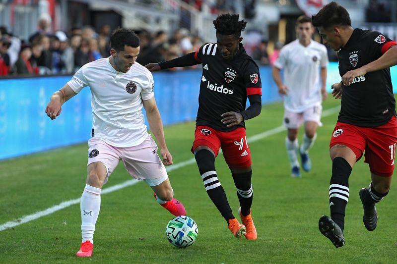 Inter Miami ( in white) are set to face New York City FC tomorrow