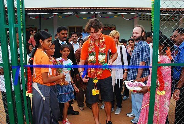 Rafael Nadal visited Andhra Pradesh, India in 2010